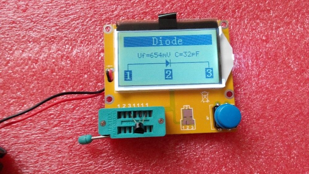 Free shipping, MG328 Transistor Tester Capacitor ESR Inductance Resistor Meter NPN PNP Mosfet