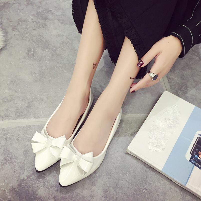 Women's Flats Fashion Bow Pointed Toe Female Flats Woman Flat Shoes Ballet Flats Ladies Spring Autumn Dropshipping ma18 drfargo spring summer ladies shoes ballet flats women flat shoes woman ballerinas pointed toe sapato womens waved edge loafer