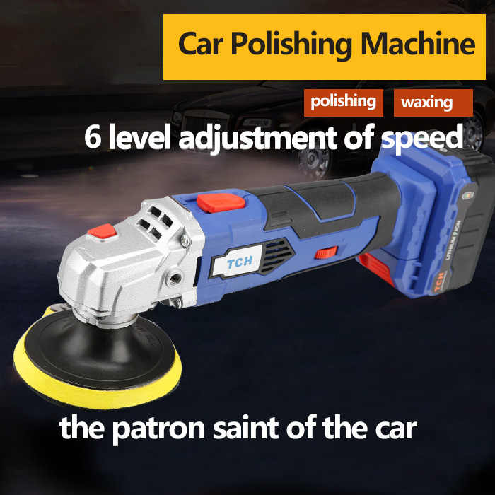 Máquina pulidora de 16V TCH con batería de litio 2000 mAh/4000 mAh para pulir el coche tanto carga directa y con batería