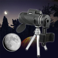 40X60 HD Night Vision Outdoor Camping Hiking Monocular Telescope Telephone Camera Lens Phone Clamp Tripod For