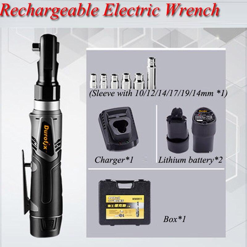 60Nm Max couple 3/8 pouces clé électrique 12 v Rechargeable batterie au Lithium clé à cliquet Angle 90 étape outils dédiés