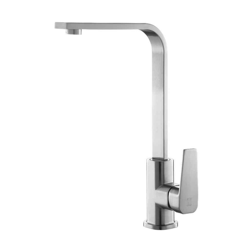 Stainless Steel Faucets Kitchen Aliexpresscom Buy Hideep Kitchen Faucets Kitchen Hot Cold Water
