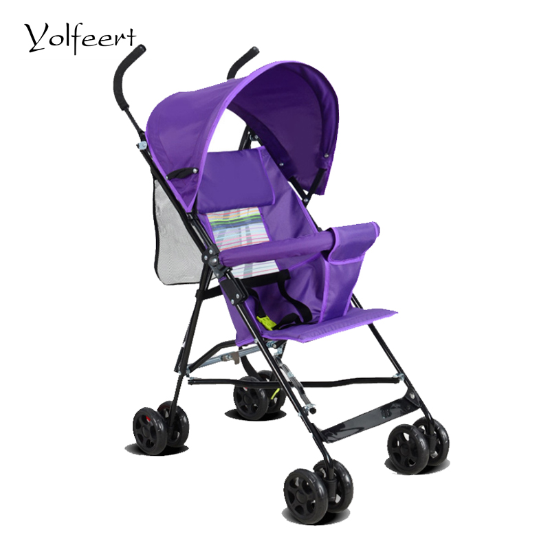 ФОТО YOLFEERT Four Seasons Cheap Lightweight Portable Baby Pram Carriage Baby Stroller Folding Umbrella Trolley Prams Strollers BS001