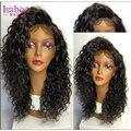 Isabel 7A brasileña llena del cordón pelucas de pelo humano para las mujeres negras virgen del pelo del frente del cordón pelucas de cabello humano 100% pelucas de cabello humano
