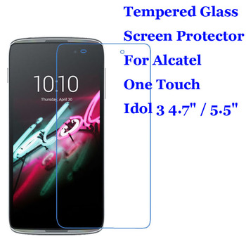 For Alcatel Idol 3 4.7 / 5.5 Tempered Glass 9H 2.5D Premium Screen Protector For Alcatel One Touch Idol 3 6039Y / 6045Y image