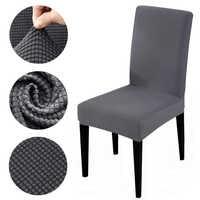 Housse de chaise en tissu polaire housse de siège extensible amovible pour salle à manger housse de siège pour Banquet d'hôtel housse de chaise