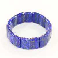 New 8x13mm Beads Bracelets For Women Blue Natural Stone Lapis Lazuli Geometry Men Manual Strand Bangles Jewelry 7.5inch B3277