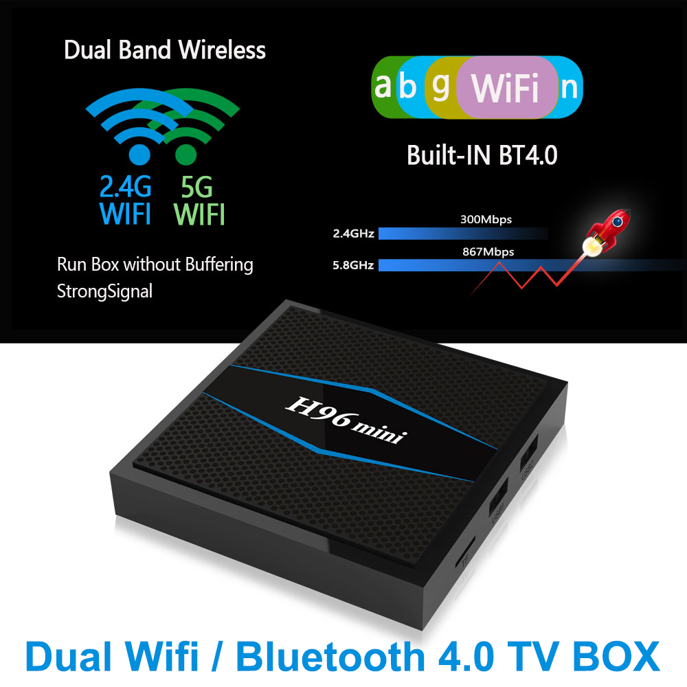 H96 mini 5G Wifi Android TV Box