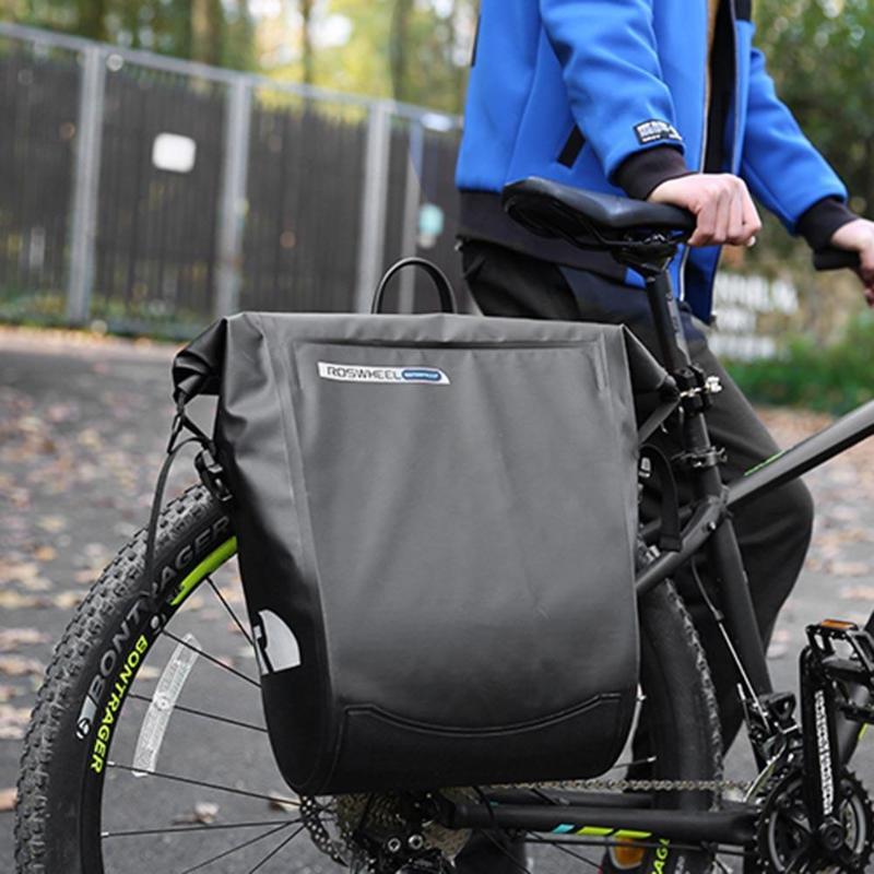 ROSWHEEL Cycling Rack Bag Waterproof Mountain Bike Pannier Adjustable Shoulder Strap Road MTB Bikes Rear Seat Trunk Bicycle Bag все цены