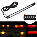 1PC Universal Flexible Motorcycle Light Strip 8 Soft 48 LED Tail Brake Stop Turn Lamp Motorcycle Accessories Free Shipping