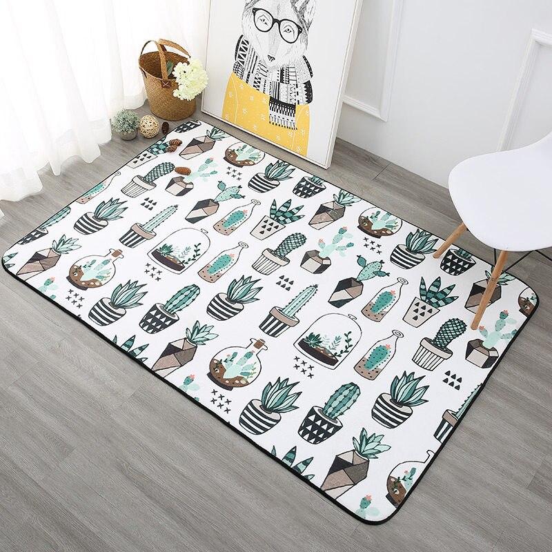 Tapis de plantes nordiques pour salon décor à la maison tapis de chambre à coucher doux canapé Table basse tapis de sol tapis d'étude tapis de jeu pour enfants