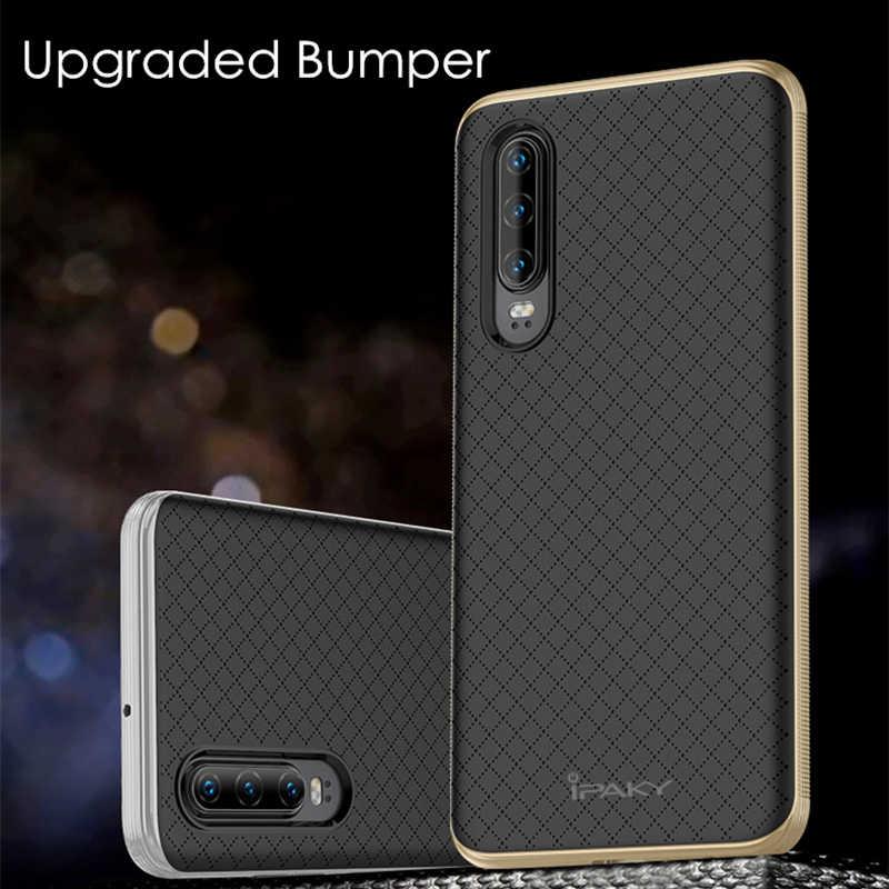 สำหรับ Huawei P30 กรณี IPAKY PC Bumper ซิลิโคน 2 in 1 Hybrid เกราะกันกระแทกสำหรับ Huawei P30 pro กรณี