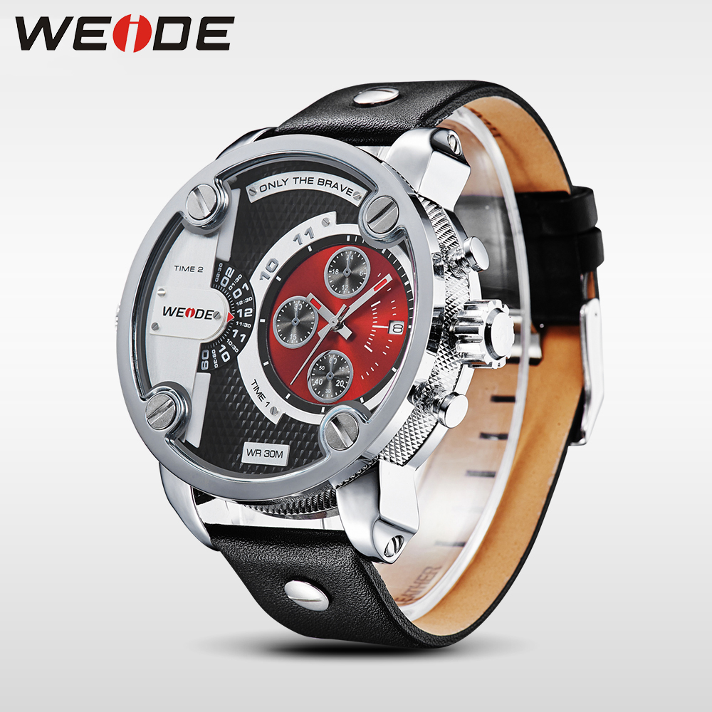 WEIDE Mans Luxury Quartz Watches Military Sports Calendar