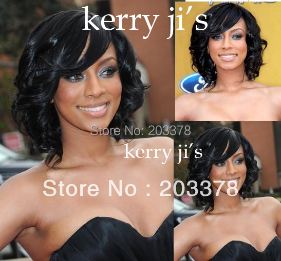 Latest Romance Curl Black Synthetic Hair Wigs for women / lady /girl 10pcs/lot mix order 10pcs/lot free shipping