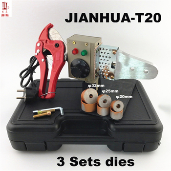 Plumber tools 20-32mm 220/110V 600W Temperature control hot melt machine ppr pipe welding machine plastic pipe welder free shipping 75 110mmplastic welder temperature control welding machine ppr pipe tube 1000w 220v machine and die head paper box