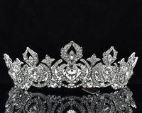 מותג חדש פרח הטיארה קראון תכשיטי ריינסטון נשים נשף חתונת ראש חתיכות 8642 משלוח חינם