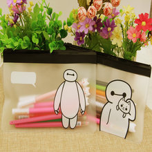 H46 1X Kawaii Briefpapier Leuke Clear Big Hero Baymax Pen Bag Case Houder Opslag Pencilcase Schoolbenodigdheden Cosmetische Make-Up Tas(China)