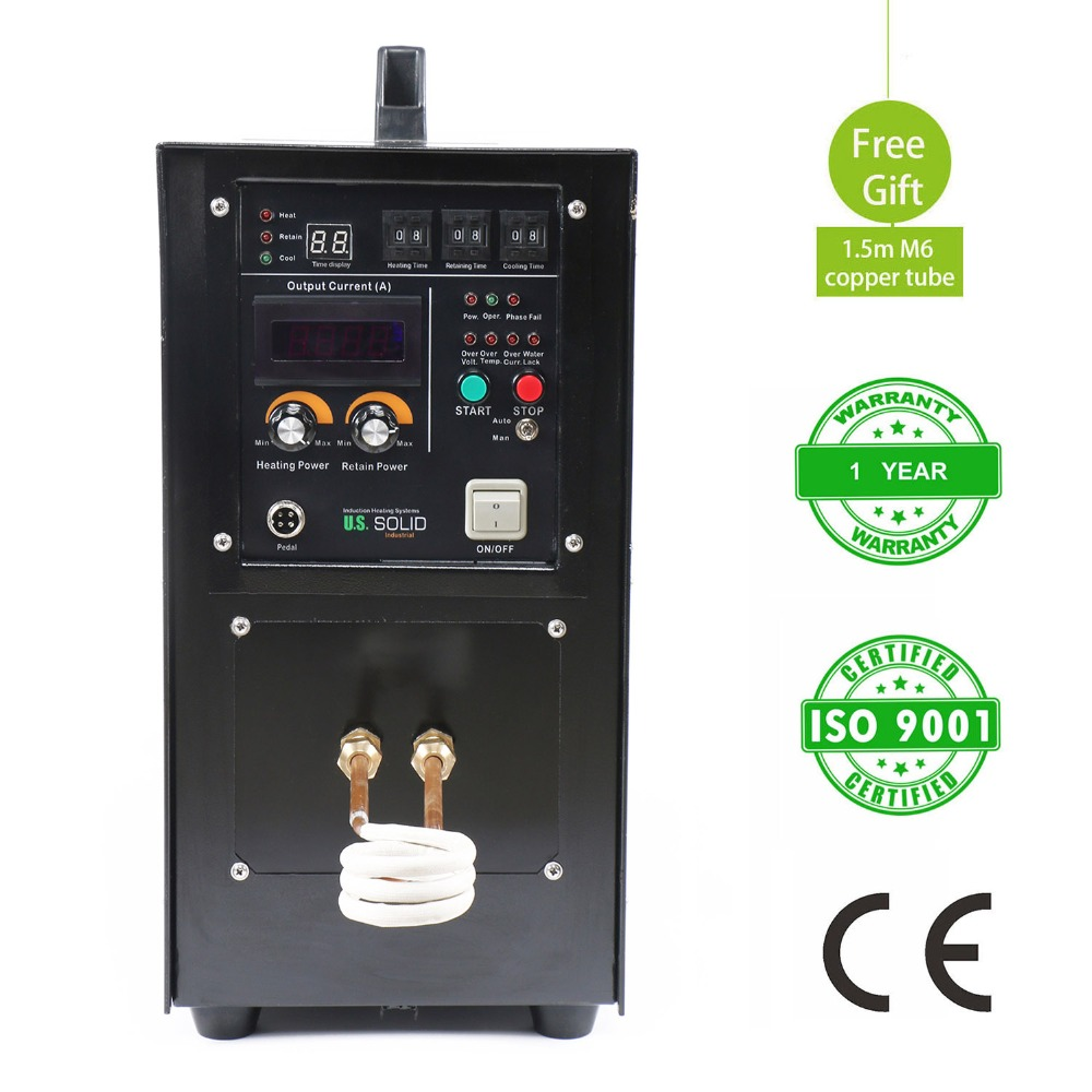 15KW 30-80 KHz High Frequency Induction Heater Furnace LH-15A Induction Heater 220V One Year Warranty customized heating coil for high frequency induction heater lh 15a lh 25a