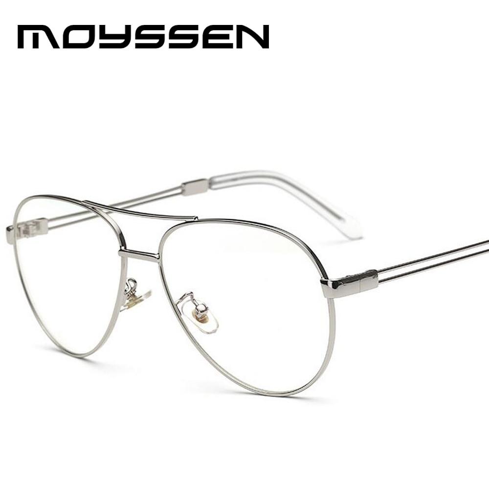 f41b5a7ae21c Moyssen High Quality Men s Vintage 3025 Pilot Eyeglasses Women Retro Rose  Gold Oversized Glasses Frame Myopia Optical Eyewear-in Eyewear Frames from  Apparel ...