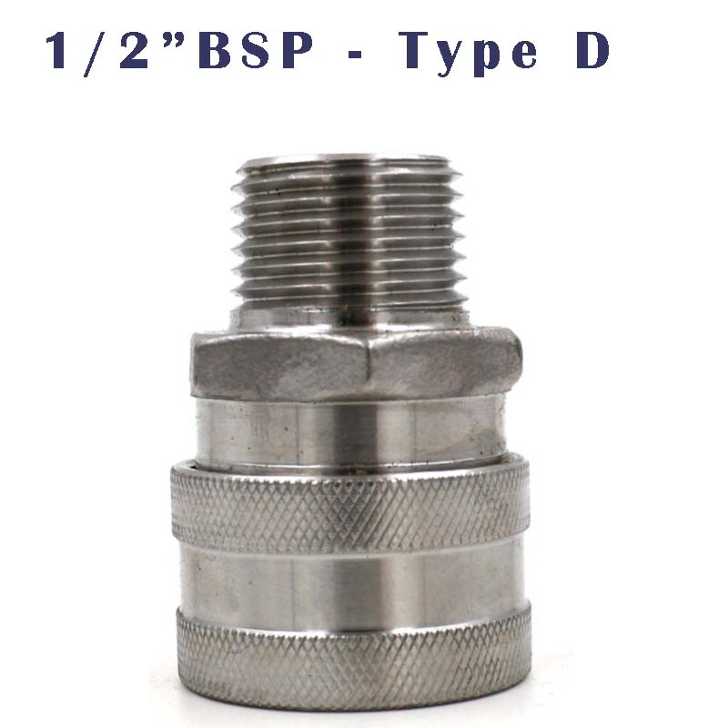 """Stainless Female Quick Disconnect Set 1/2"""" Male BSP Brewer Hardware Homebrew fitting"""
