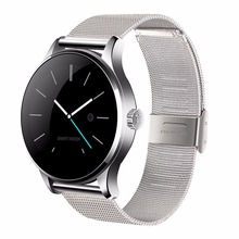 K88h smart watch ios android monitor de ritmo cardíaco reloj 1.22 pulgadas ips pantalla bluetooth smartwatch para iphone 6 redondo huawei xiaomi