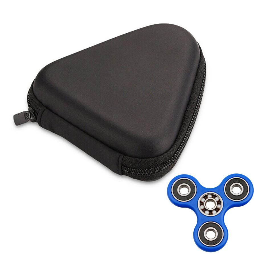 Eva Carry Case Bag Packet For Earphone Charger Charging Cable Fidget Spinner Mainan Hand 3 Circle Arms Triangle Finger Toy Focus Adhd Autism In Mobile Phone Accessory