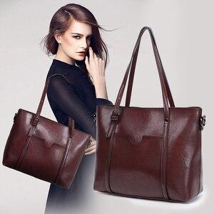 Image 5 - Bolso de lujo de piel suave para mujer, bandolera para mujer, grande, inclinado
