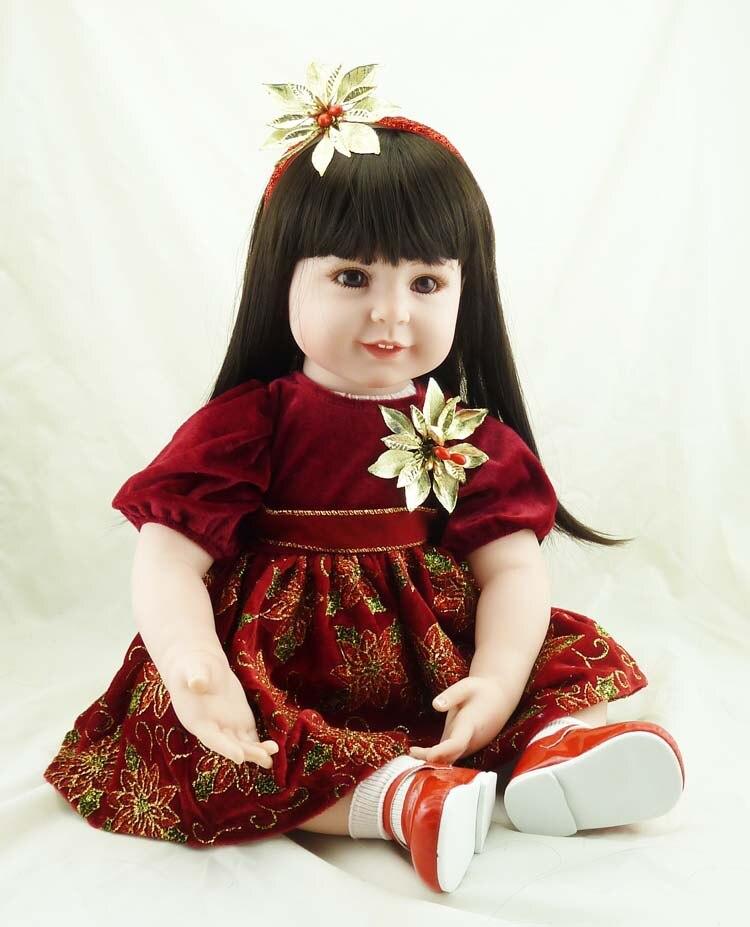 22 pollici 55 cm Silicone bambole del bambino rinato, bambola realistica reborn neonati giocattoli per la rosa della ragazza della principessa regalo giocattoli per i bambini-in Bambole da Giocattoli e hobby su  Gruppo 1