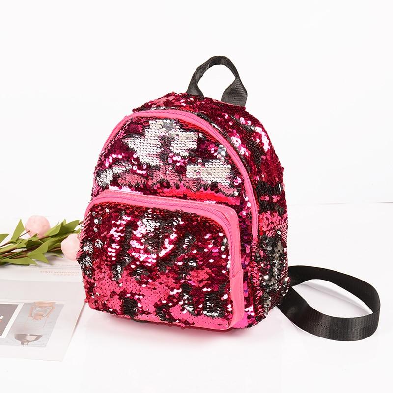 Fashion Girl Sequins School Backpack WomenTravel Backpacks Kids Bagpack Children Sequin Bag Drop Ship mochila feminina