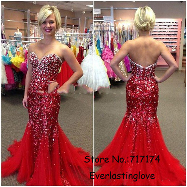 Custom made Hot Dazzling Rhinestone Sequine Lace Red Royal Blue ...