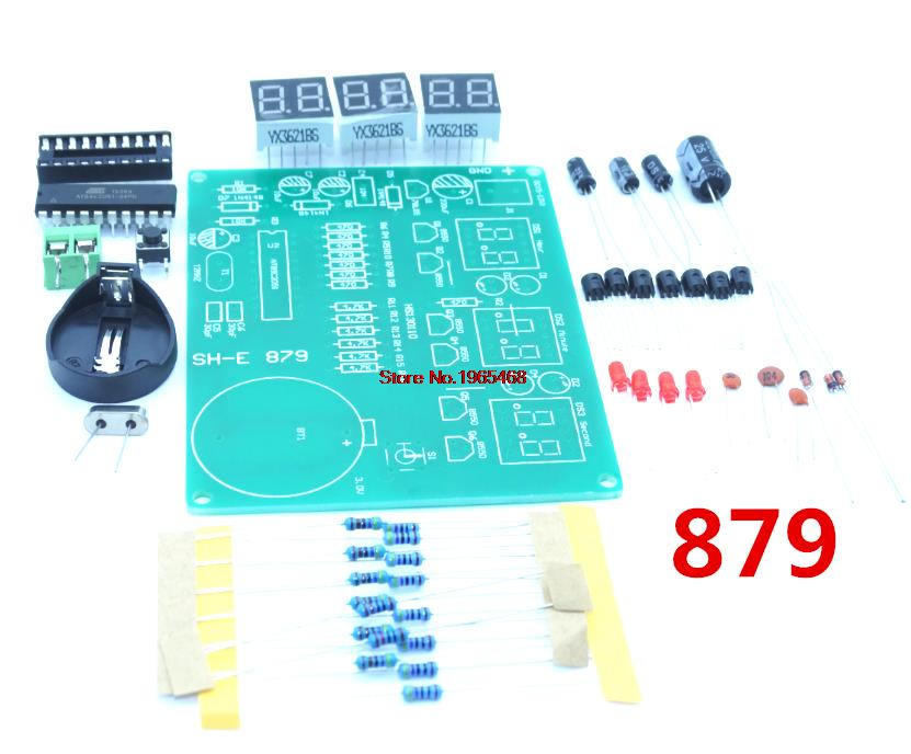 DIY Kits AT89C2051 Electronic Clock Digital Tube LED Display Suite Electronic Module Parts And Component 9V - 12V Kit 879