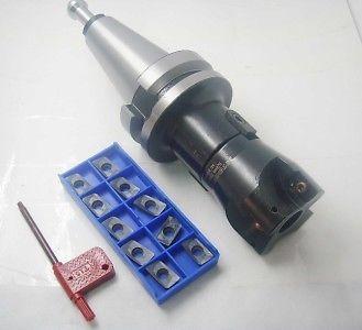 ФОТО BT40-400R 50mm 4Flute Face Milling Cutter/10pcs inserts