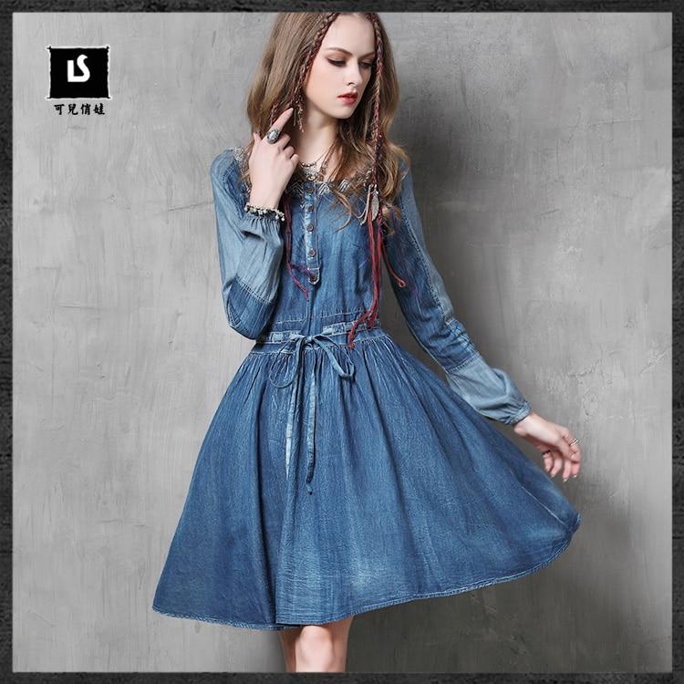 Online Get Cheap Blue Jean Dresses for Women -Aliexpress.com ...