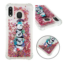 Fashionable cartoon painting is suitable for Samsung Galaxy M20 dynamic quicksand anti - falling mobile phone shell