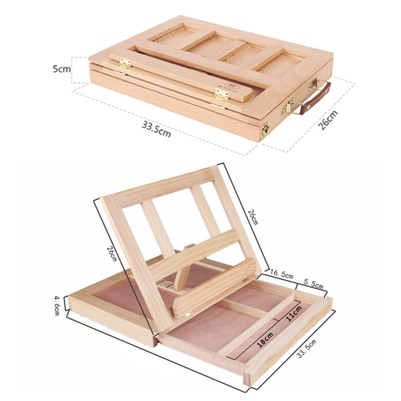 Multifunction Painting Easel Artist Desk Easel Portable Miniature Desk Light Weight Folding Easel For Storage Or During Trips 3