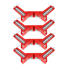 4pcs Reinforced 90 Degree Right Angle Clamp Corner Clamps For Aquarium Fishtank Glass Wood Picture Holder Woodworking Tool