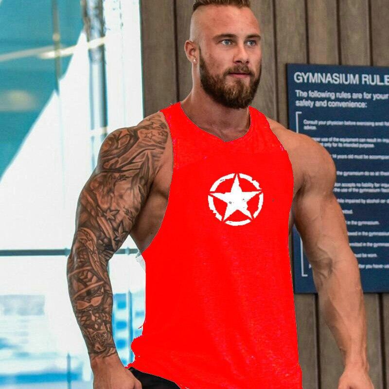 Кофты Супермена Хлопок Спортивная майка мышцы рубашки майки без рукавов Фитнес Танк топ мужская одежда для фитнеса или бодибилдинга мужчин - Цвет: Picture Color
