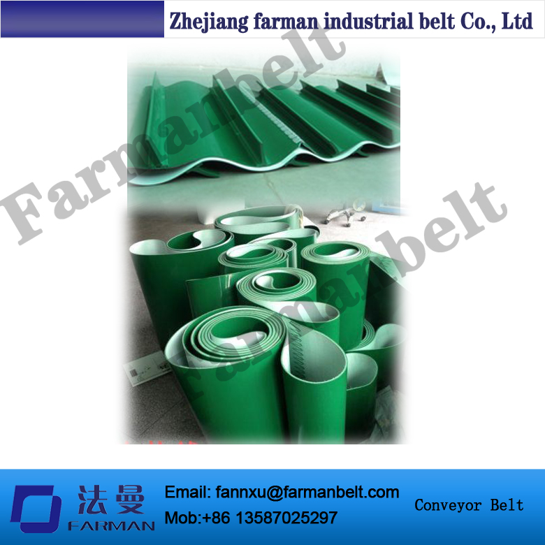 high quality green pvc conveyor belt /sponge conveyor belt