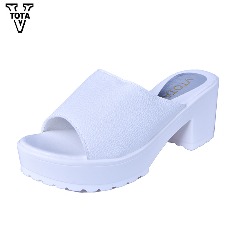 VTOTA Wedges Slippers Women SthickWith Shoes Woman Flip Flops Women Summer Shoes Leather Soft Ladies Platform Sandals X204 vtota 2017 fashion wedges women sandals bling summer shoes woman platform sandalias soft leather open toe casual women shoes r25
