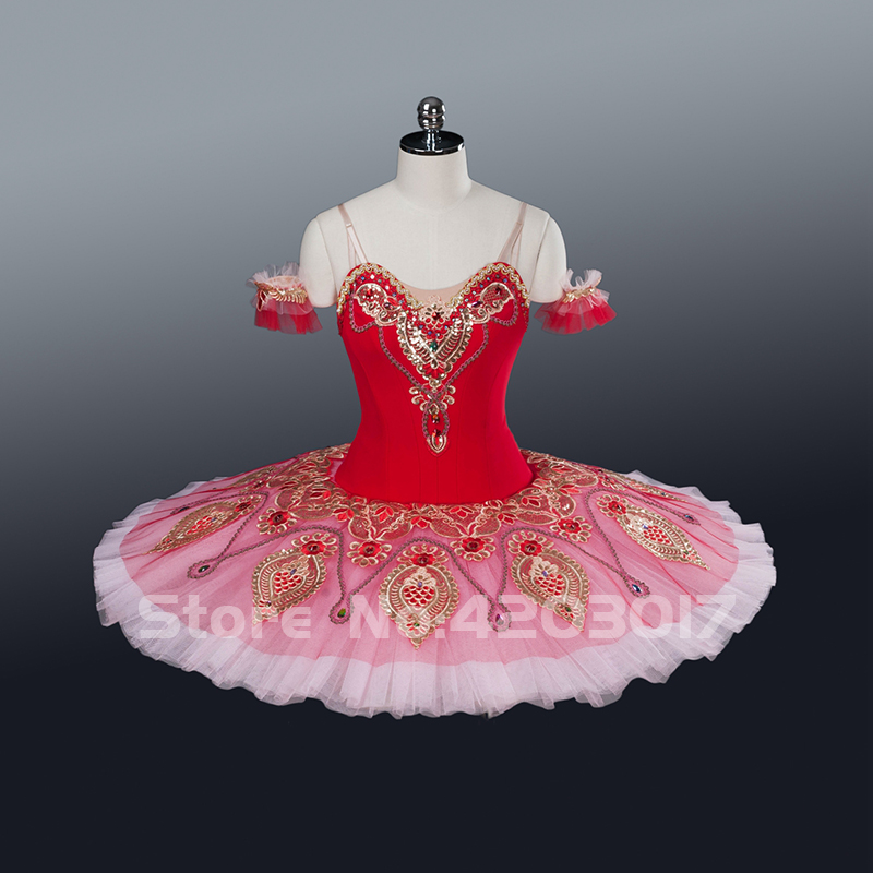 Красные балетные пачки для взрослых, балетная пачка, пышная юбка для девочек, балетная пачка «Щелкунчик», Женская балетная танцевальная оде