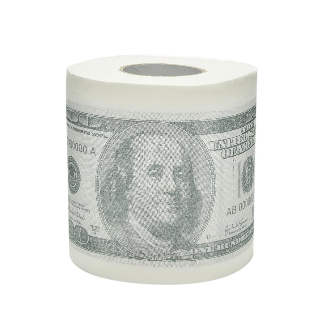 $100 Hundred Money Dollar Bill Toilet Paper Tissue Roll Funny Novelty Gag