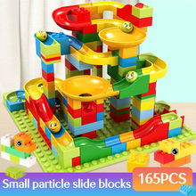 2019 New 165Pcs-330PCS Marble Race Run Maze Balls Track Building Blocks Funnel Slide Building Brick Compatible legoingly bricks(China)