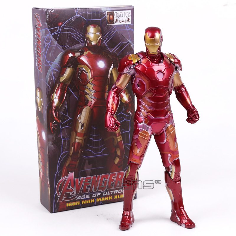Crazy Toys Avengers Age of Ultron Iron Man Mark XLIII MK 43 PVC Action Figure Collectible Model Toy 12 30cm marvel the avengers stark iron man 3 mark vii mk 42 43 mk42 mk43 pvc action figure collectible model toys 18cm kt395