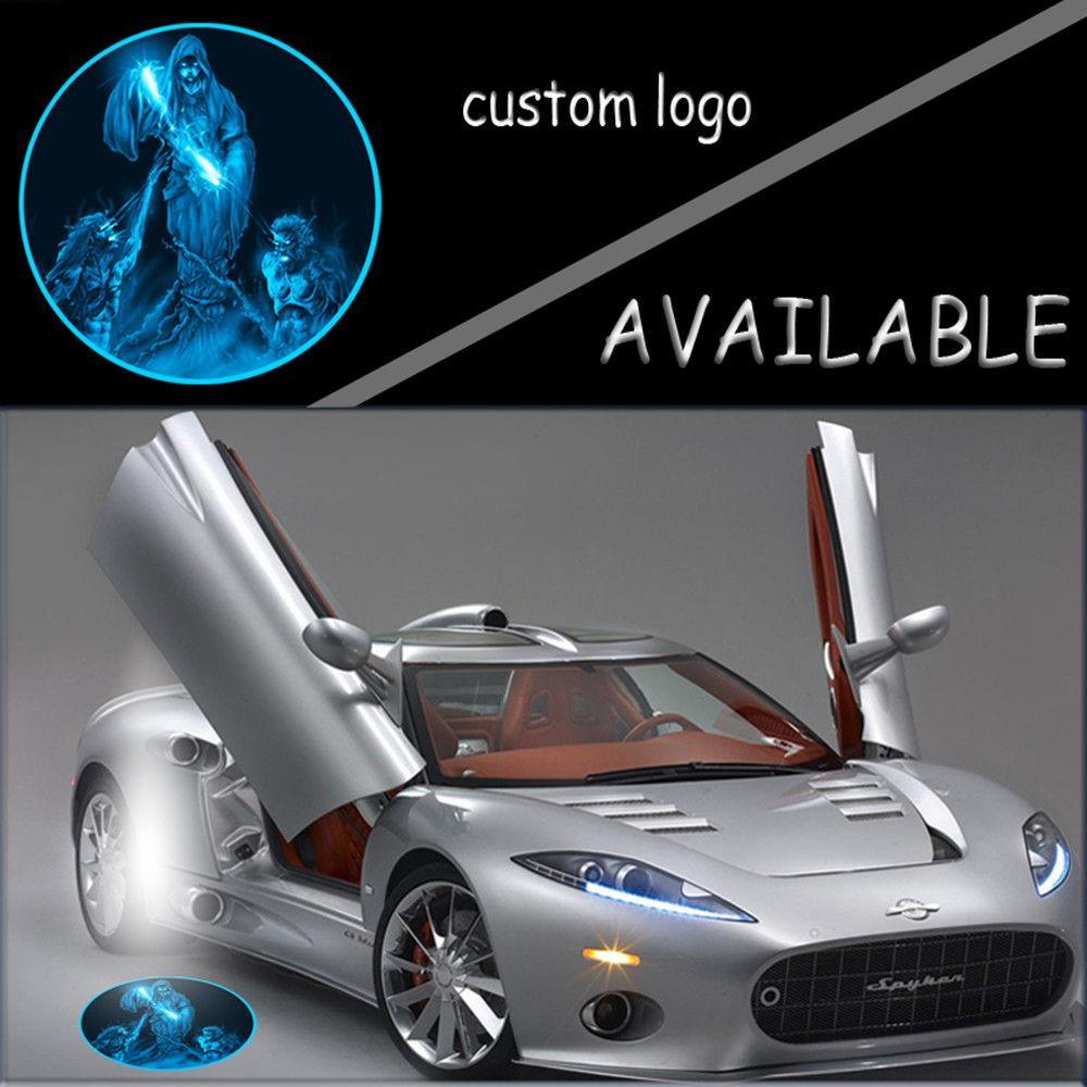 1set LED Universal Car Open Door Welcome Laser Projector Ghost Shadow Light 12V Puddle Logo Light for Blue Tomb Fantasy #5131 2pcs projector laser auto open door welcome step logo led lights for ford blue mustang 50 years 5139