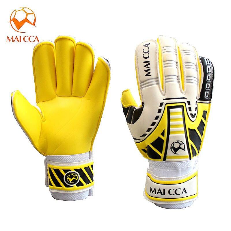 Тренировочные перчатки для вратаров MAICCA, профессиональные перчатки для защиты пальцев, плотные латексные перчатки для футбола