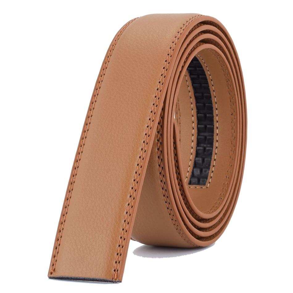 WOWTIGER Designer Fesyen 3.5cm Belt Kulit Mewah Lelaki Belt automatik - Aksesori pakaian - Foto 3