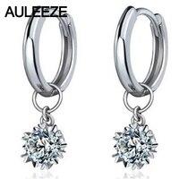 Снежинка 0,6 cttw обручальное кольцо серьги стерлингового серебра 925 искусственный бриллиант Капли серьги для женщин ювелирные украшения