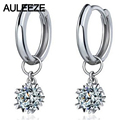Snowflake 0.6cttw Moissanite Engagement Earrings 925 Sterling Silver Lab Grown Diamond Drops Earrings For Women Fine Jewelry