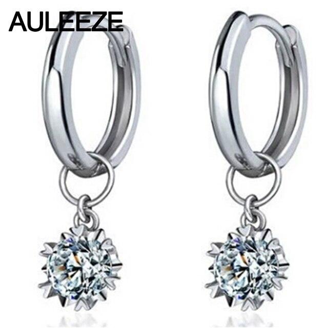 Snowflake 0.6cttw Moissanite Engagement Earrings 925 Sterling Silver Lab Grown Diamond Drops Earrings For Women Fine Jewelry