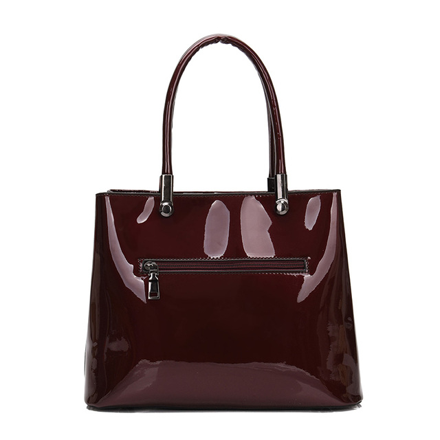 Luxury Crocodile Women Shoulder Bags High Quality Patent Leather Women Handbags And Purses Sets Large Ladies Tote Bolsa Feminina